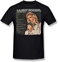 SALA Men's Kenny Rogers Greatest Hits Poster T-Shirts Black