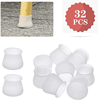 CHARMINER Silicone Furniture Chair Legs Caps, 32pcs Furniture Silicon Protection Cover, Round Anti-Slip Table Feet Pad Bottom Chair Pad Prevents Scratches and Noise Large