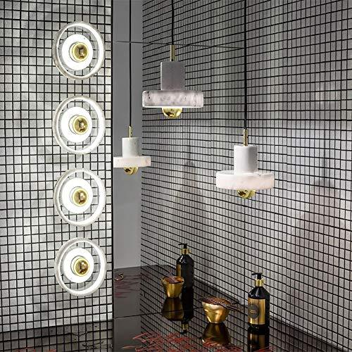 TYXL Luz de pared Diseño Minimalista Postmoderno Decorativa Dormitorio Sala De Estar Decoración De La Lámpara Lámpara De Pared Lámpara De Araña De Mármol 18 * 11cm