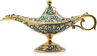 AVESON Classic Vintage Aladdin Magic Genie Costume Lamp Home Table Decoration & Gift, Golden Blue