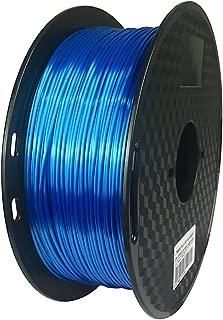 Silk Sapphire Blue 3D Printer PLA Filament 1.75mm 1kg(2.2LBS) Silky Feeling Shine Shiny Dark Deep Blue Material CC3D Shiny Silk Gold Silver Copper