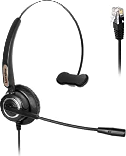 Ear Headset with Noise Reduction Microphone Compatible with Yealink T19 T20 T21 T22 T23 T26 T27 T28 T29 T32 T36 T38 T40 T4...