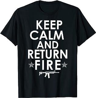 冷静を保って返すファイアーガン権利プロ第2改正 Tシャツ