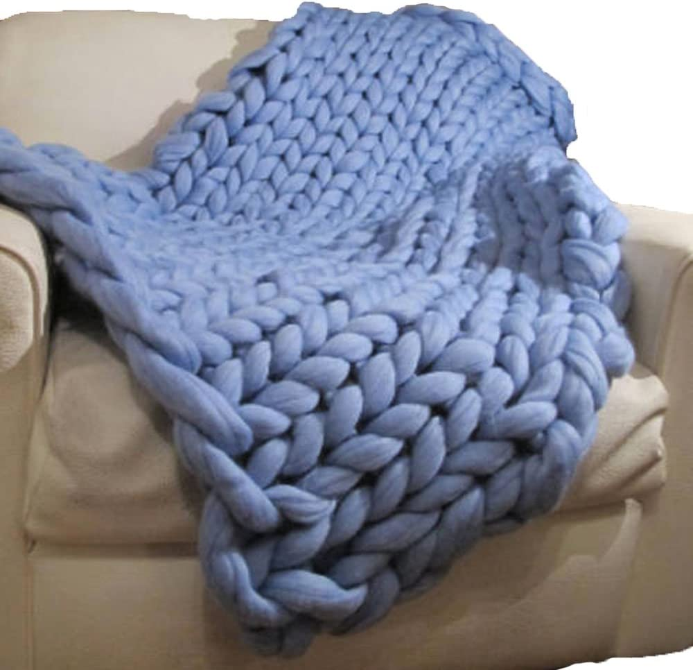Knitted Blanket Knitted Baby Blanket Chunky Knit Blanket Wool Blanket Knit Baby Blanket Merino Wool Blanket Baby Blanket
