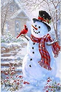 Grace Painter 5D Cartoon Snowman DIY Diamond Painting Embroidery Full Drill Round Rhinestone Diamond Home Decor Painting Cross Stitch Kits Canvas Size9.8x13.7Inches