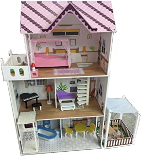 iiE Create DIY Dollhouse Kits Large Doll House with Furniture Accessories Wooden Family House Toy for Girl (TX1195)