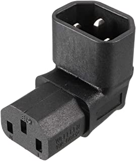 uxcell® AC125V~AC250V 10A IEC320 Male C14 to Female C13 Power Socket Adapter