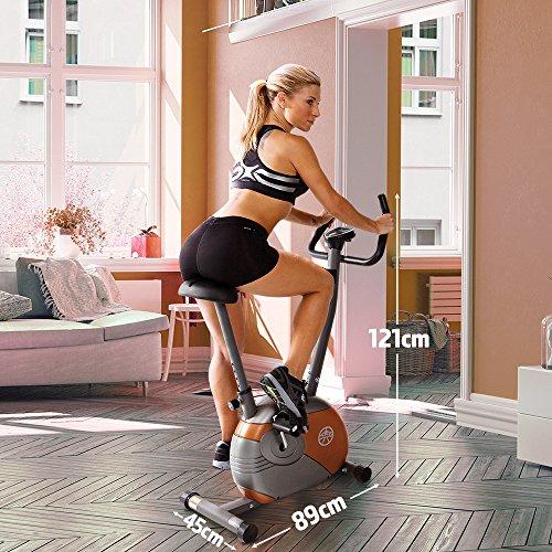 Marcy Start ME708 Upright Magnetic Exercise Bike, 17 Stone Capacity