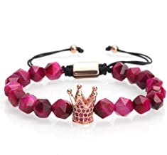 FENGHUIHUI 2019 Jewelry Natural Stone Bracelet and Crown Perfect Combination Suitable for Ladies/Men