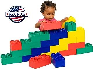 Jumbo Blocks 26 Pieces Educational Learning Set with Animal & Alphabet Stickers, 8