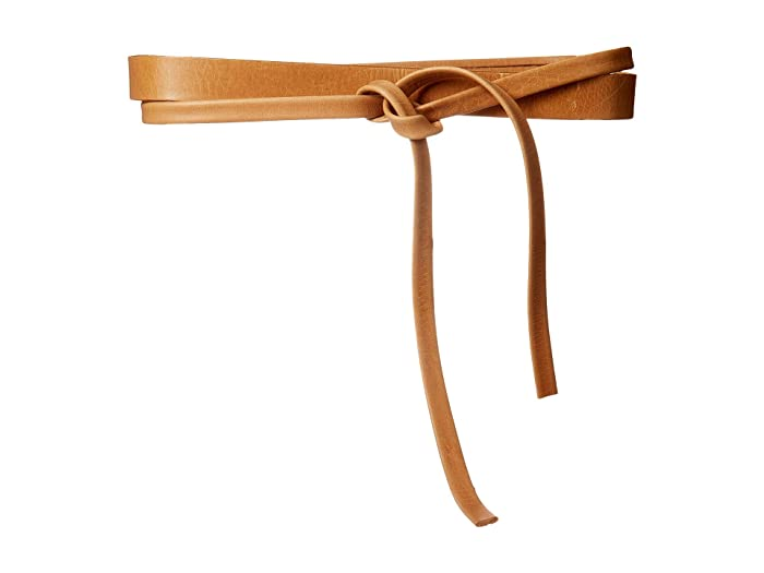 ADA Collection Skinny Wrap Belt (Tan) Women