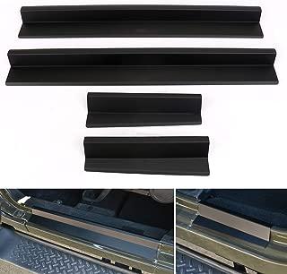 BOXATDOOR Entry Guard Trim Protector for 2007-2017 Jeep Wrangler JK 4Door Door Side Sill Scuff Plate Aluminium Black
