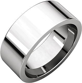 FB Jewels 925 فضة استرليني 8 مم مريحة مسطحة تناسب الرجال خاتم الزفاف الفرقة الحجم 12