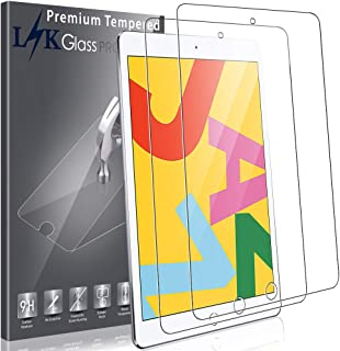 LK [2 Pack] Screen Protector for iPad 10.2-Inch (7th Gen, 2019), [Tempered Glass] [Support for Apple Pencil] [High Sensitivity] with Lifetime Replacement Warranty