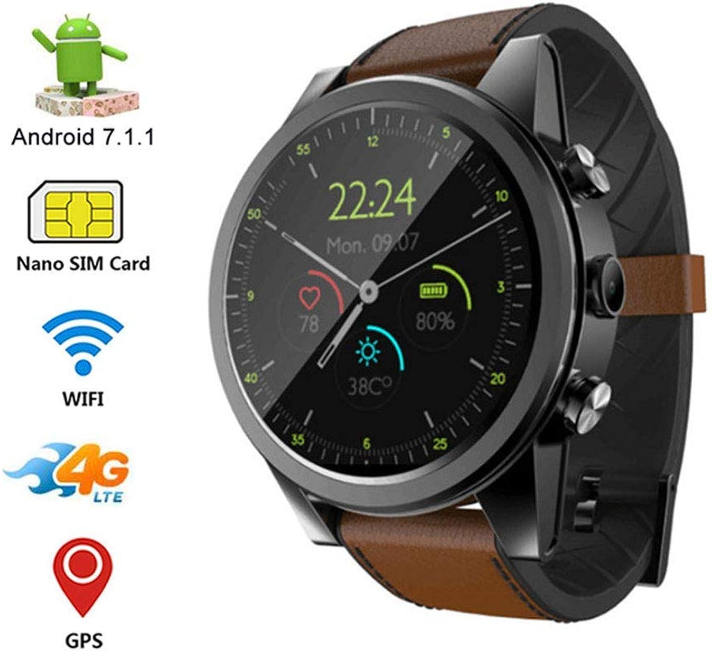 Family in Fitness Tracker Smart Watch, Pulsmesser Sport Gesundheit überwachung Schrittzhler unterstützt SIM-Karte 4 G Voice Call Integrierte HD-Kamera, schwarz-braun