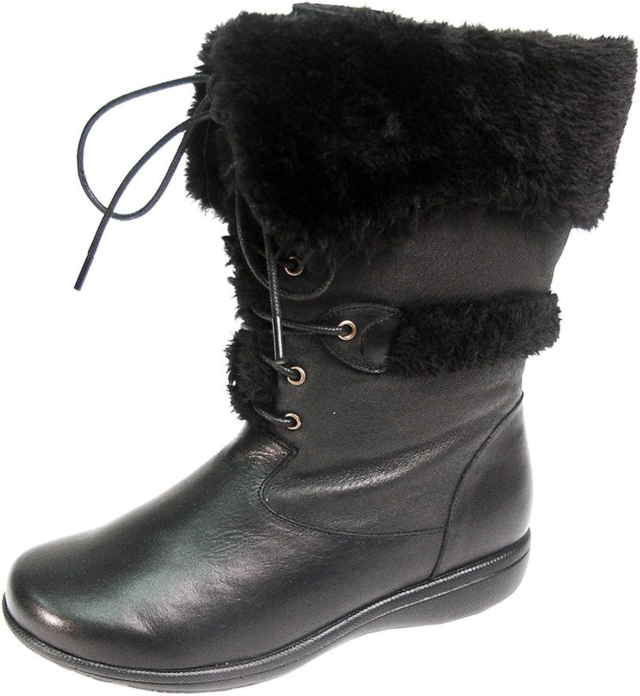 Perage FIc FIc FIc billy kvinnor bred bred läder Lace och Zip Mid Calf stövlar (Storlek  Mätguide Tillgänglig)  utlopp på nätet