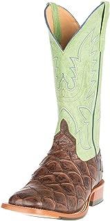 Mens Choc Siletsofish Green Sensation Cowboy Boots 9 D Brown