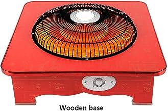 XHHWZB Fibra de carbono calentador eléctrico jaula de pájaro Brasero Asar estufa Inicio Cuenca Hornear pequeño sol eléctrico Brasero ahorro de energía del hogar eléctrico del ventilador de calefacción