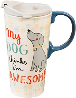 My Dog 17 OZ Ceramic Travel Cup - 4 x 5 x 7 Inches