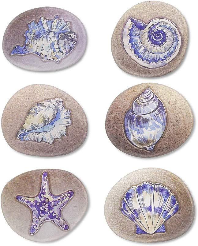 MORCART Magnets For Whiteboard Locker Stone Art Seashell For Fridge Kitchen Screen
