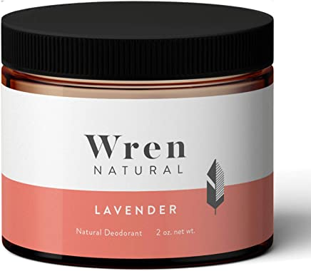 Wren Natural Deodorant Paste Cream with Organic Ingredients for Men and Women No Parabens No Aluminum, Lavender 2 Ounce