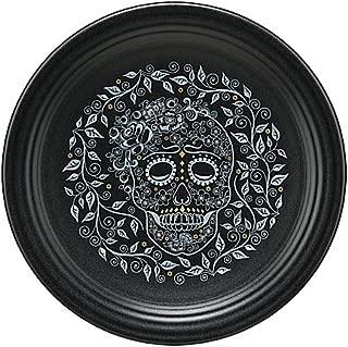 Skull and Vine Chop Plate in Black by: Fiesta