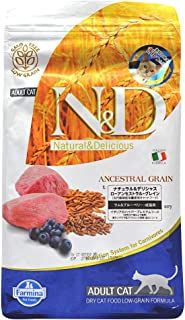 Farmina Natural And Delicious Lamb And Blueberry Low-Grain Formula Dry Cat Food