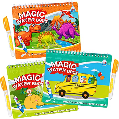 Tacobear Libri di Pittura Magica per Bambini Riutilizzabile Acqua Libro da Disegno da Colorare Giocattoli Educativi del Giocattolo per Ragazzi Ragazze Presenti
