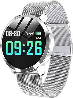 WUHUAROU Reloj Inteligente de Moda para Mujer, Resistente al Agua, Monitor de presión Arterial, Reloj Inteligente, Regalo para Mujer, Reloj Pulsera (Color : Silver)