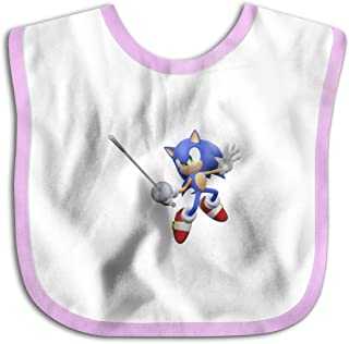 Mario and Sonic at The London 2012 Olympic Games Baby Bandana Drool Bibs Muslin Bibs for Teething and Drooling, Super Soft Organic Cotton, Great Gift for 0-24 Months Baby Pink