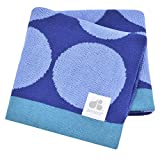 Just Born Jacquard Blanket, Blue Circles by Just Born