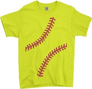 Threadrock Big Girls' Softball Seams Youth T-Shirt