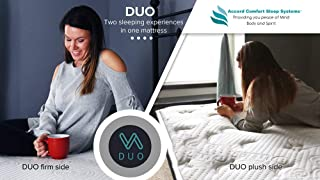 DUO King Double Sided Mattress | 2 Beds in 1, Firm or Plush | Outlast Cooling Fabic | Full 10 Year Warranty, 60 Day Sleep Guarantee