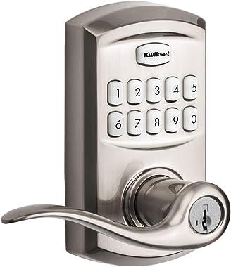 Kwikset 99170-001 SmartCode 917 Keypad Keyless Entry Traditional Residential Electronic Lever Deadbolt Alternative with Tusti