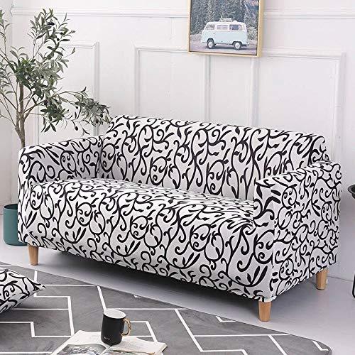 Funda de sofá elástica Fundas elásticas Funda de sofá Todo Incluido para sofá de Diferentes Formas Silla de Amor A19 4 plazas