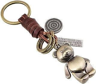 Siskiyou Automotive KR170E Metal Key Chain Grizzly Paw /& Stone Enameled Details