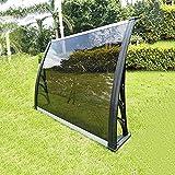 WXQIANG Porte Canopy, PC Polycarbonate Porte Canopy Auvent, Efficacement Abri de la Pluie, la Neige et la grêle (Size : 80×120cm)