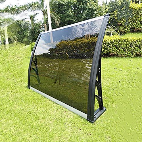 WXQIANG Türüberdachung, PC Polycarbonat Tür Canopy Markise, Effizientes Schutz vor Regen, Schnee und Hagel (Size : 80×120cm)