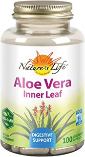Nature's Life Aloe Vera Inner Leaf | Skin Health, Digestive Support & Regularity Formula | With Fennel | Non-GMO & Vegan |...