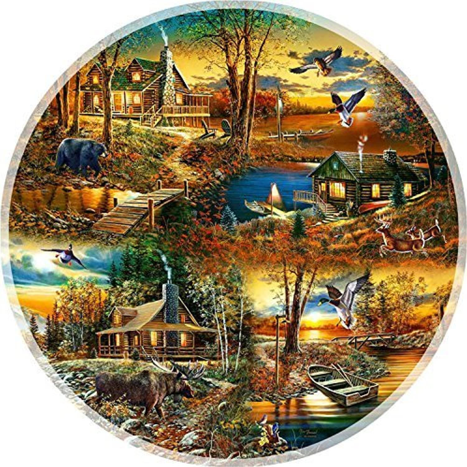 Cabins in the Woods  A 1000 Piece Jigsaw Puzzle by SunsOut by SunsOut
