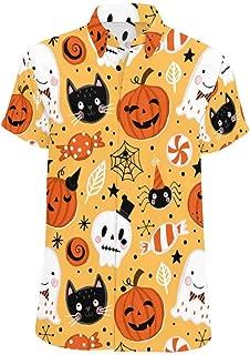 Men's Hawaiian Halloween Casual Short Sleeve Shirts