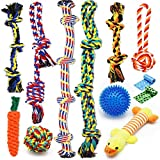 Zeaxuie Luxury Medium to Large Dog Toys for Aggressive Chewers - 12 Pack Tough Dog Toys for Large Breed with Heavy Dog Rope Toys, Interactive Rope Teething Toys, Squeaky Dog Chew Toys