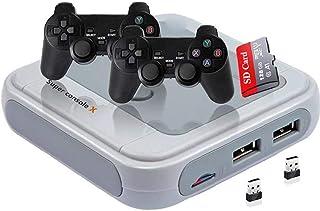 Console de jeux TV Console de jeux Retro Mini console de jeux Enfance Jeux Classique 128G Gris-EUGame Console
