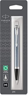 Parker IM Ballpoint Pen, Light Blue Grey and Chrome with Medium Point Black Ink Refill, Gift Box (1975564)