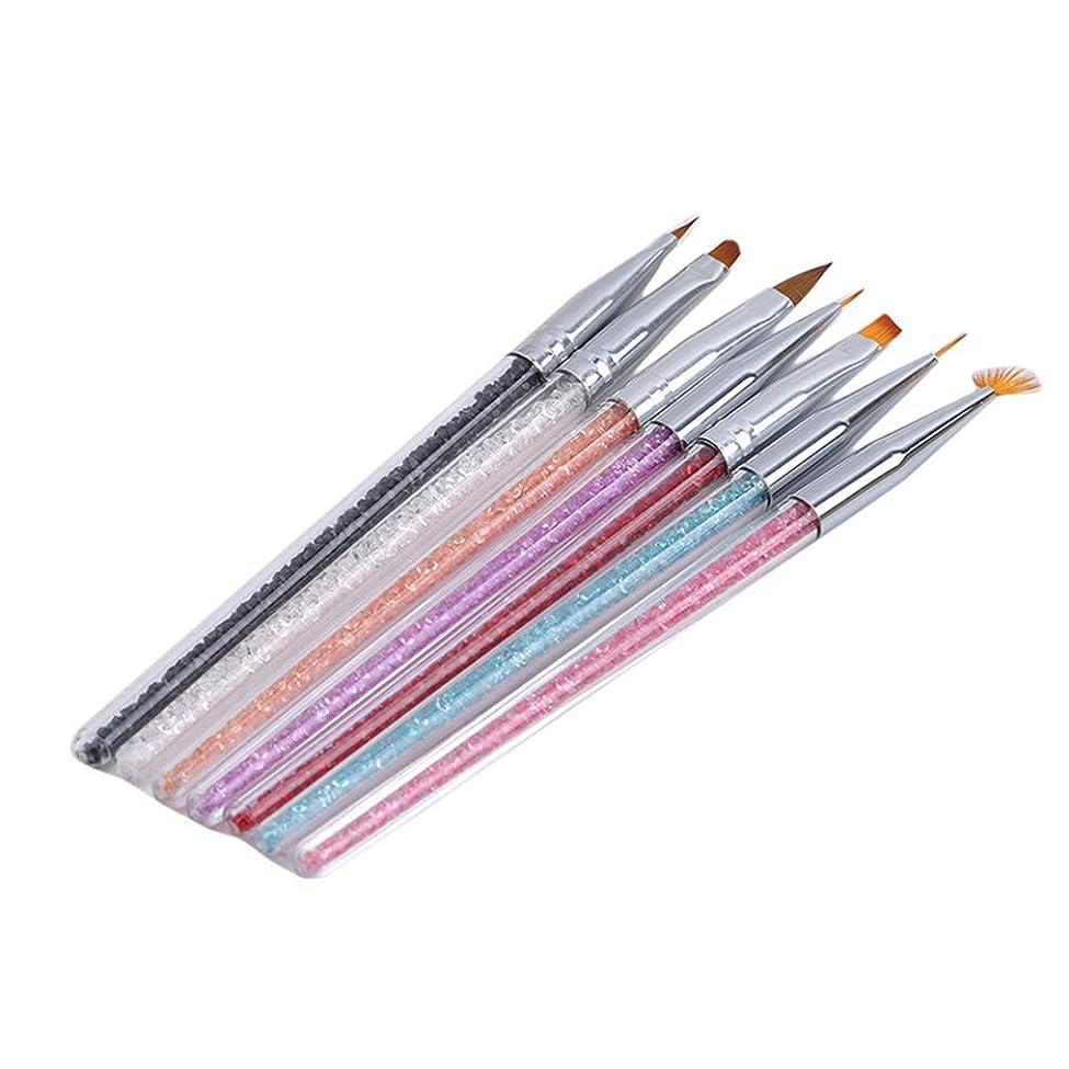 前奏曲事故有害Cngstar 7本の棒 ラインストーンの棒 釘 袖 ペン 引きライン 花 水晶 塗られた 汚れ ペンのセット ラインストーンの棒 釘のペン