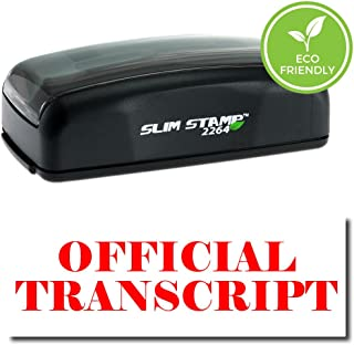 Pre-Inked Official Transcript Stamp (Red Ink)