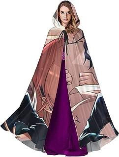 Food Wars! Shokugeki No Soma Anime Unisex Cosplay Costume Cloaks with Hood Polyester Fiber Adult Halloween Christmas Black