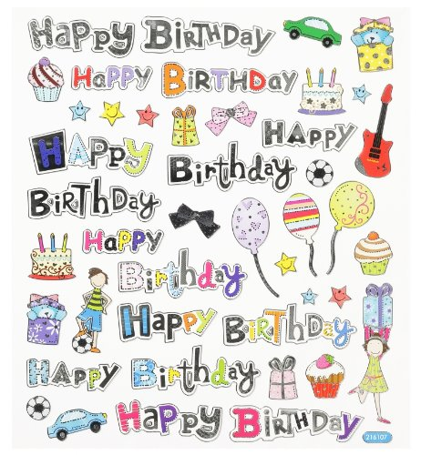 Hobby Design Sticker * Happy Bithday Geburtstag * Aufkleber 3452346