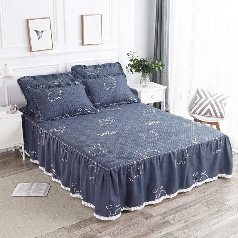 修復支出スタウトコットンのベッドスカート豪華なプレミアム品質しわと退色耐性マイクロファイバーマルチフリル滑り止め保護ケース - ほこりを追加 (色 : O, サイズ さいず : 180x200cm)