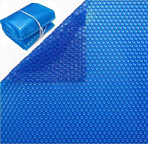 qmj Solarabdeckung Poolabdeckung 600μm PE-Blasenabdeckung Luftpolsterabdeckung Solar Schwimmbadabdeckung,Blue-200cm x 400cm (6ft×13ft)